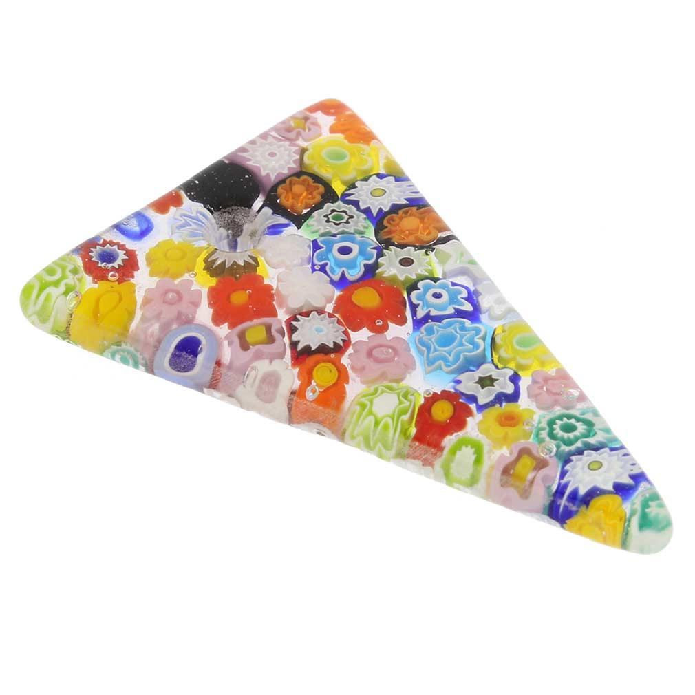 Mosaic Glitter triangular millefiori pendant