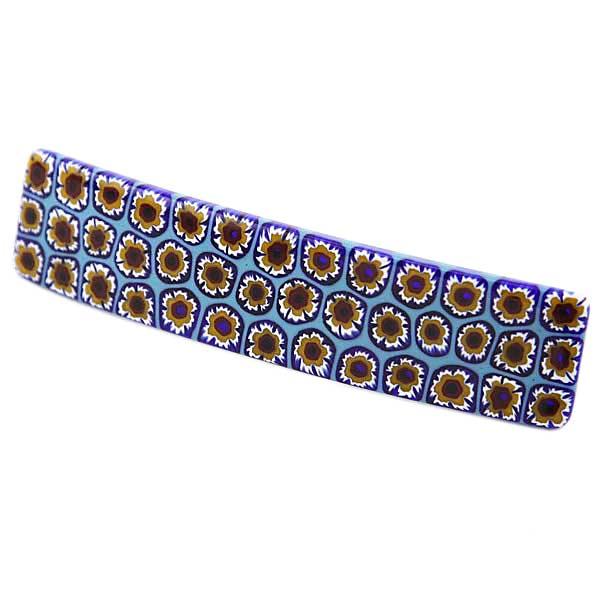Murano Millefiori Hair Clip - Blue