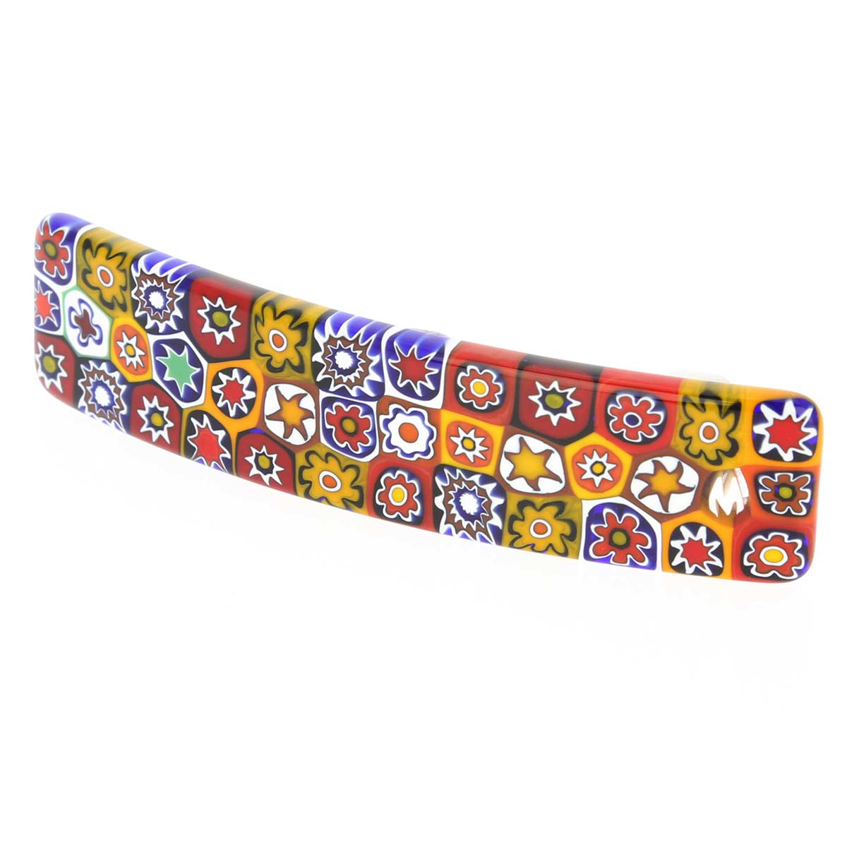 Color Splash Millefiori hair clip
