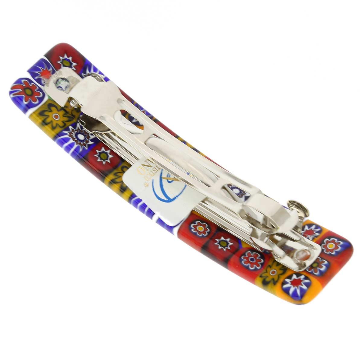 Color Splash Millefiori hair clip