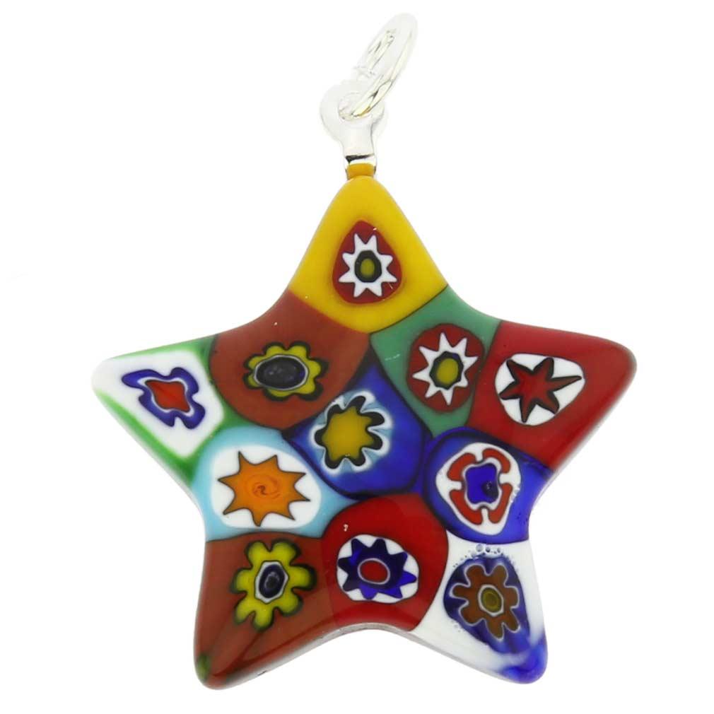 Millefiori Star Pendant - Multicolor