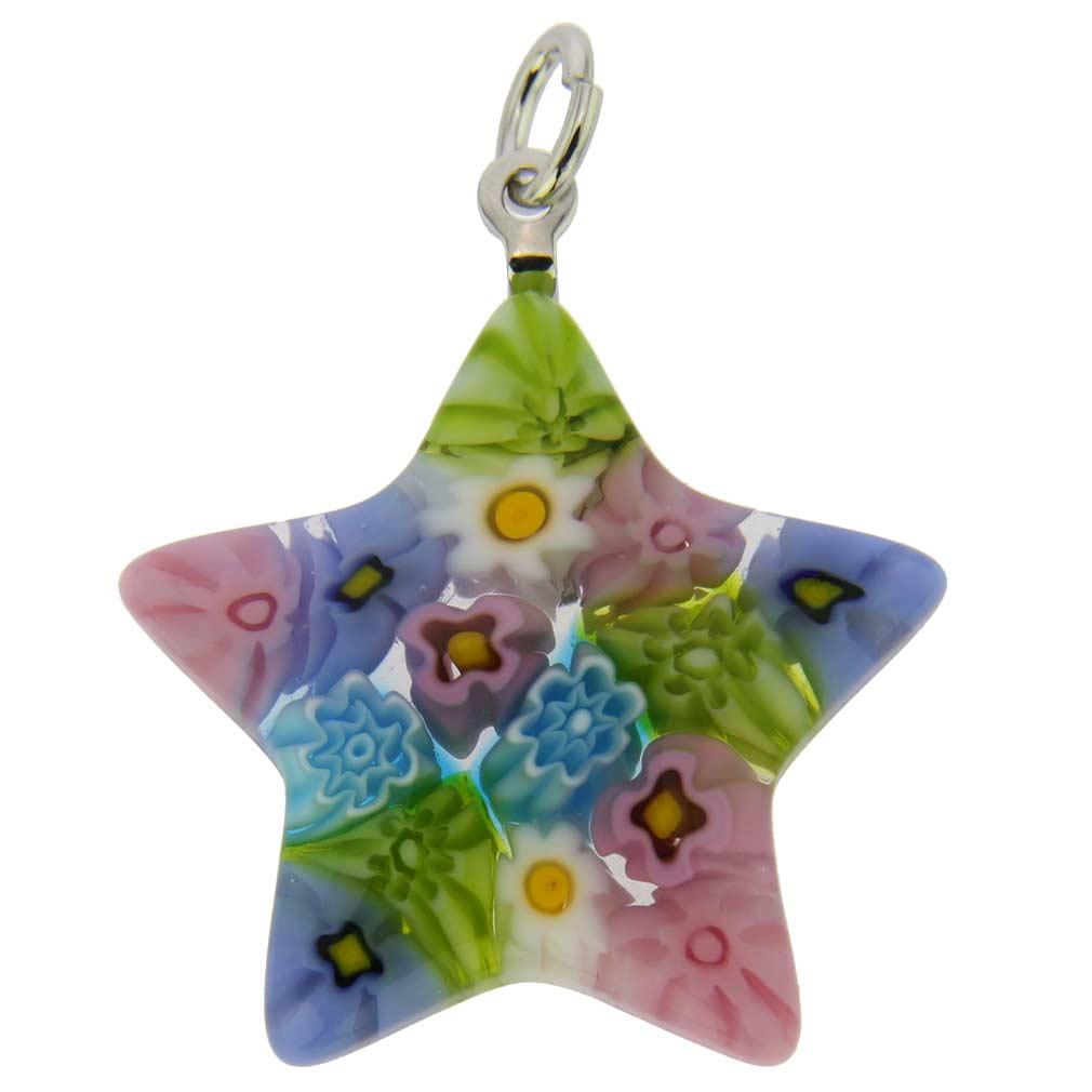 Millefiori Star Pendant - Pastels