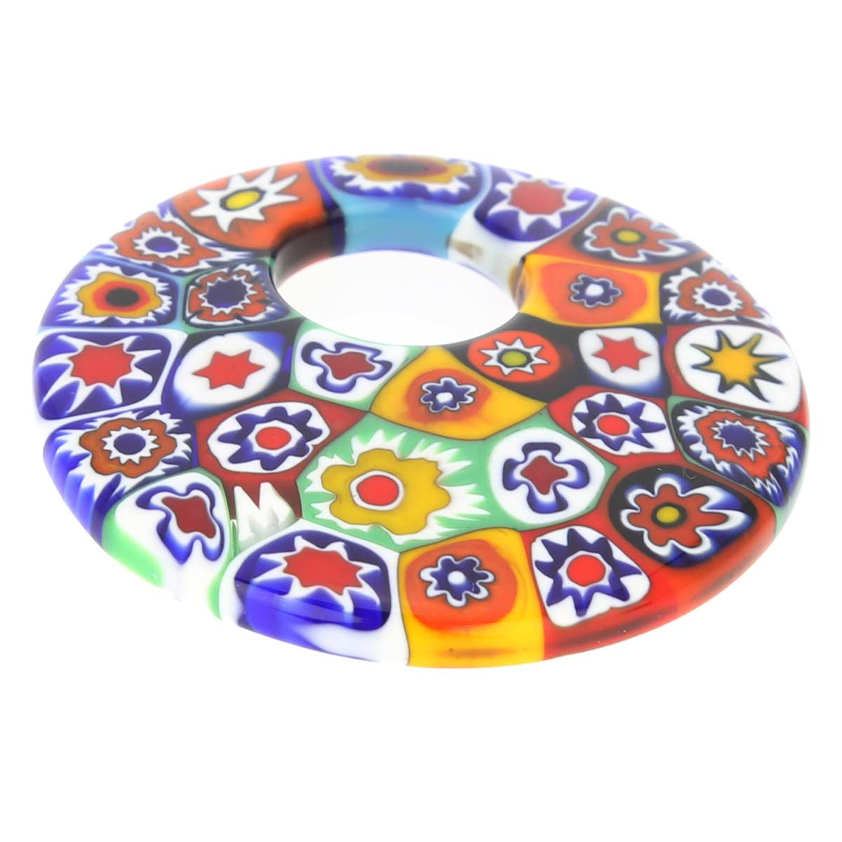 Millefiori Medium Round Pendant - Multicolor