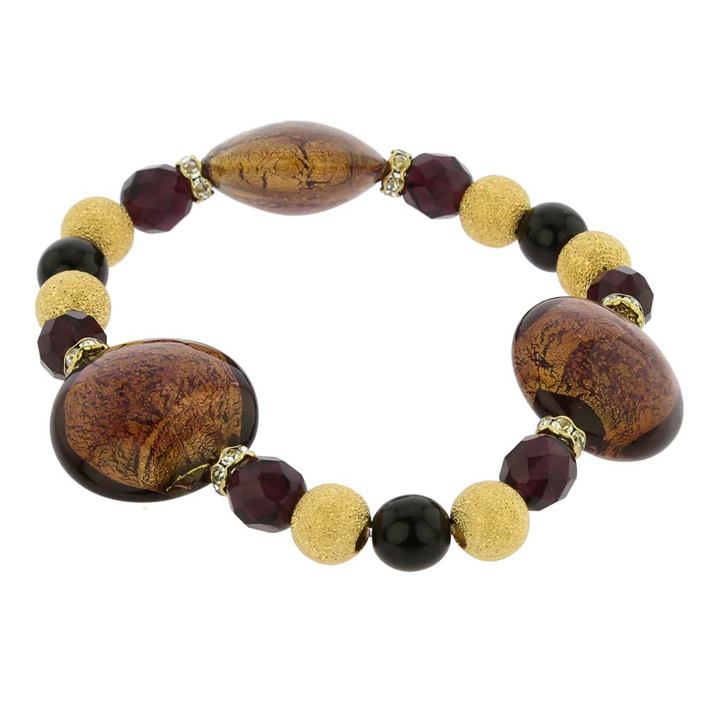 Murano Magic bracelet - amethyst gold