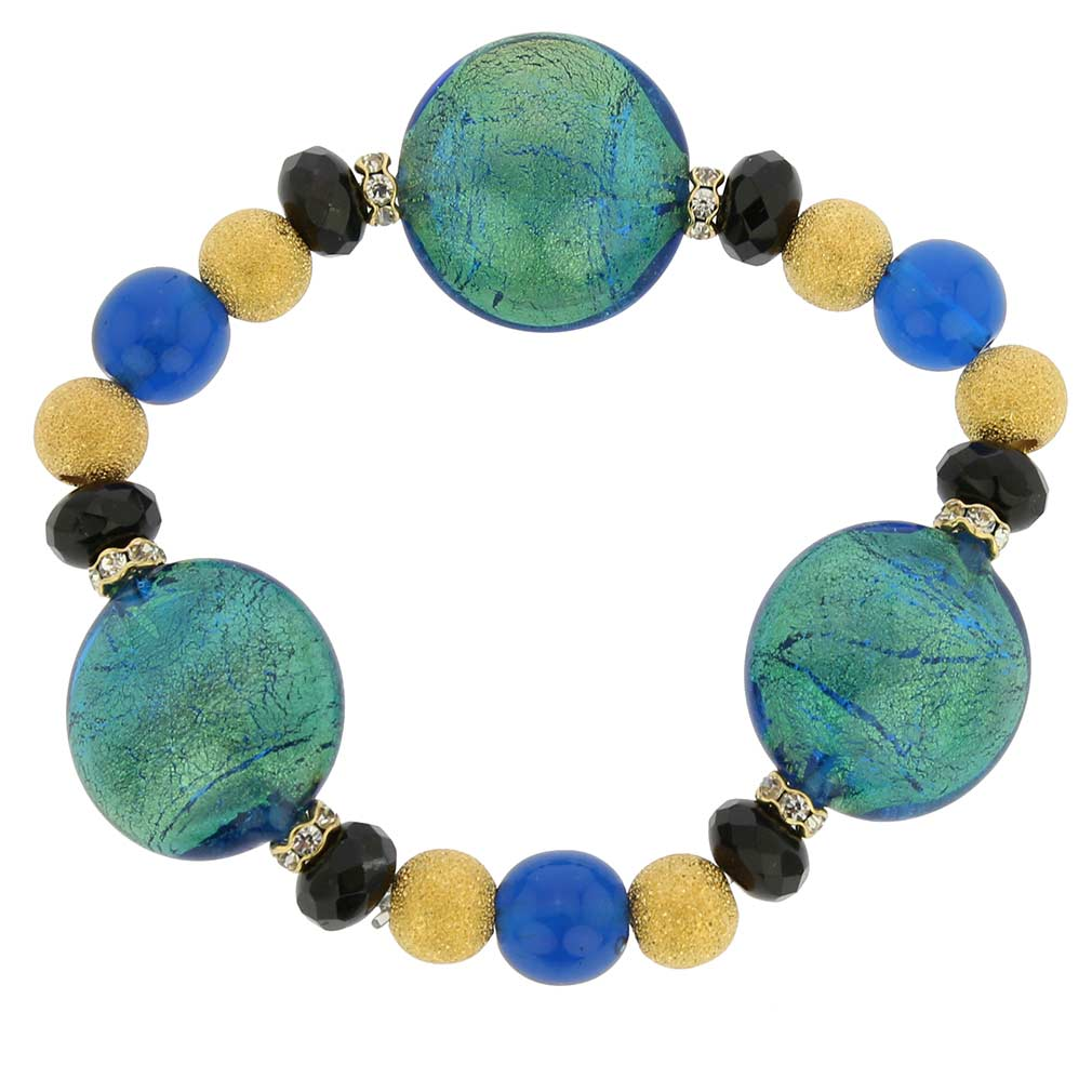 Murano Magic bracelet - gold and blue
