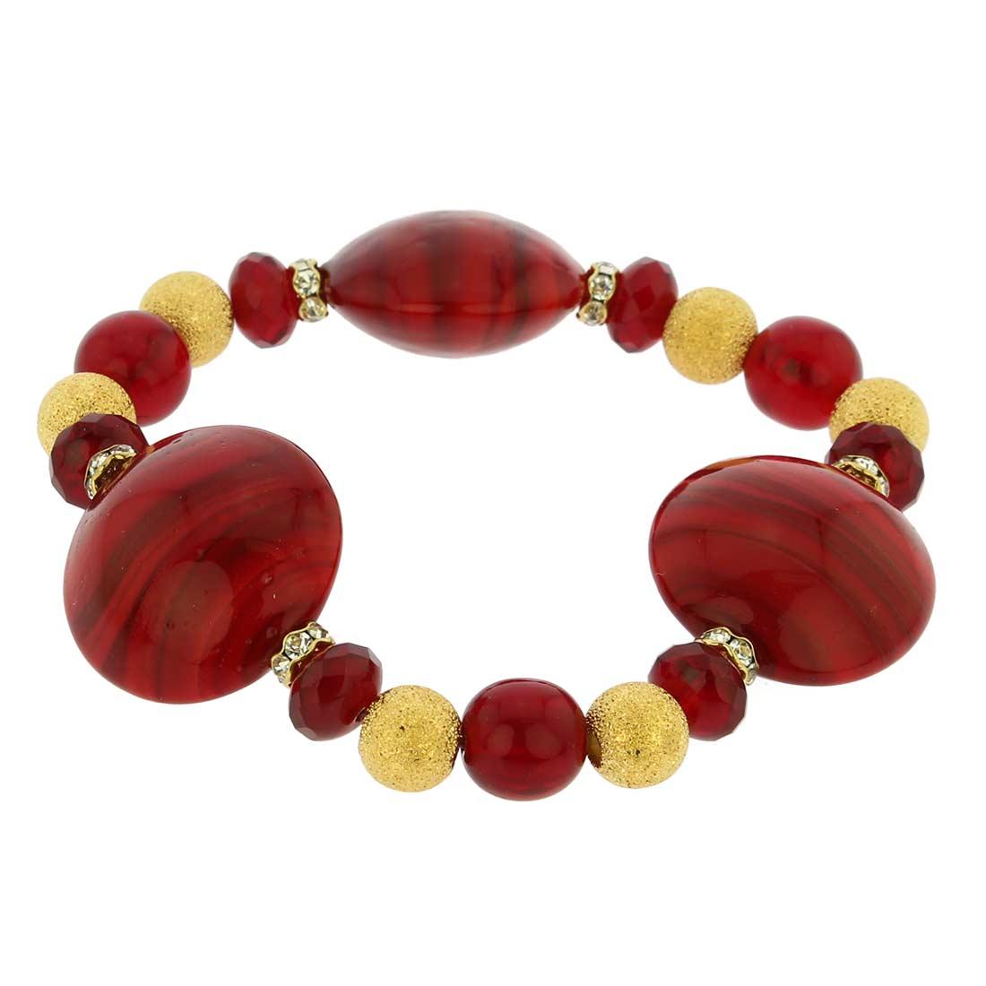 Murano Magic Bracelet - Red Marble