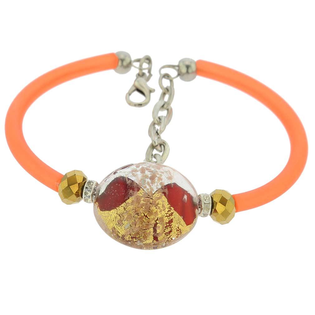 Venice Diva Bracelet - Orange Glow