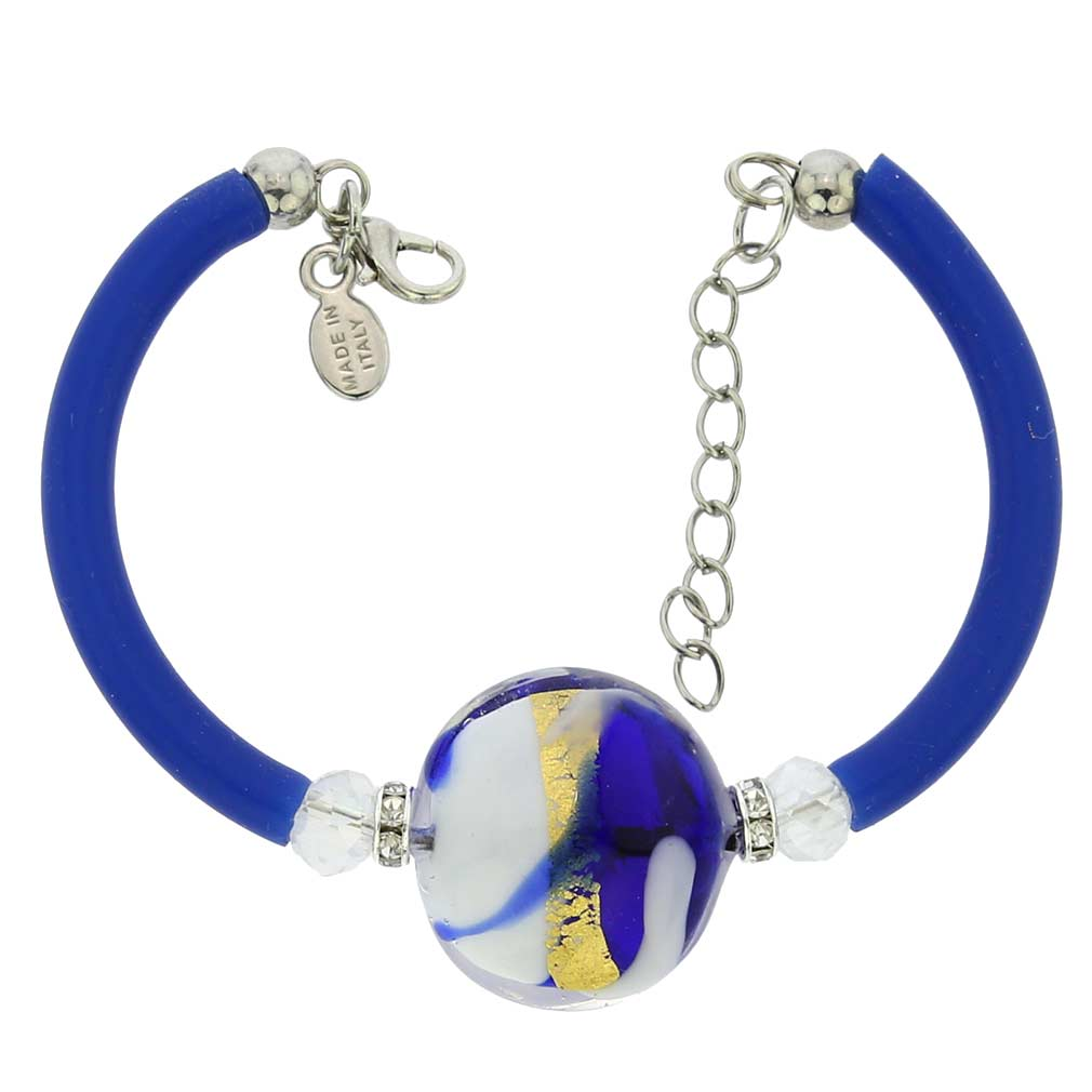 Venice Diva Bracelet - White and Blue
