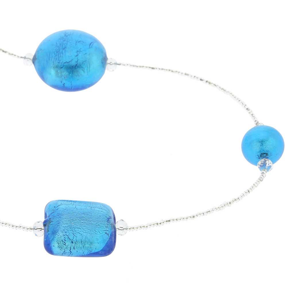 Lucia Murano Necklace - Silver Aqua