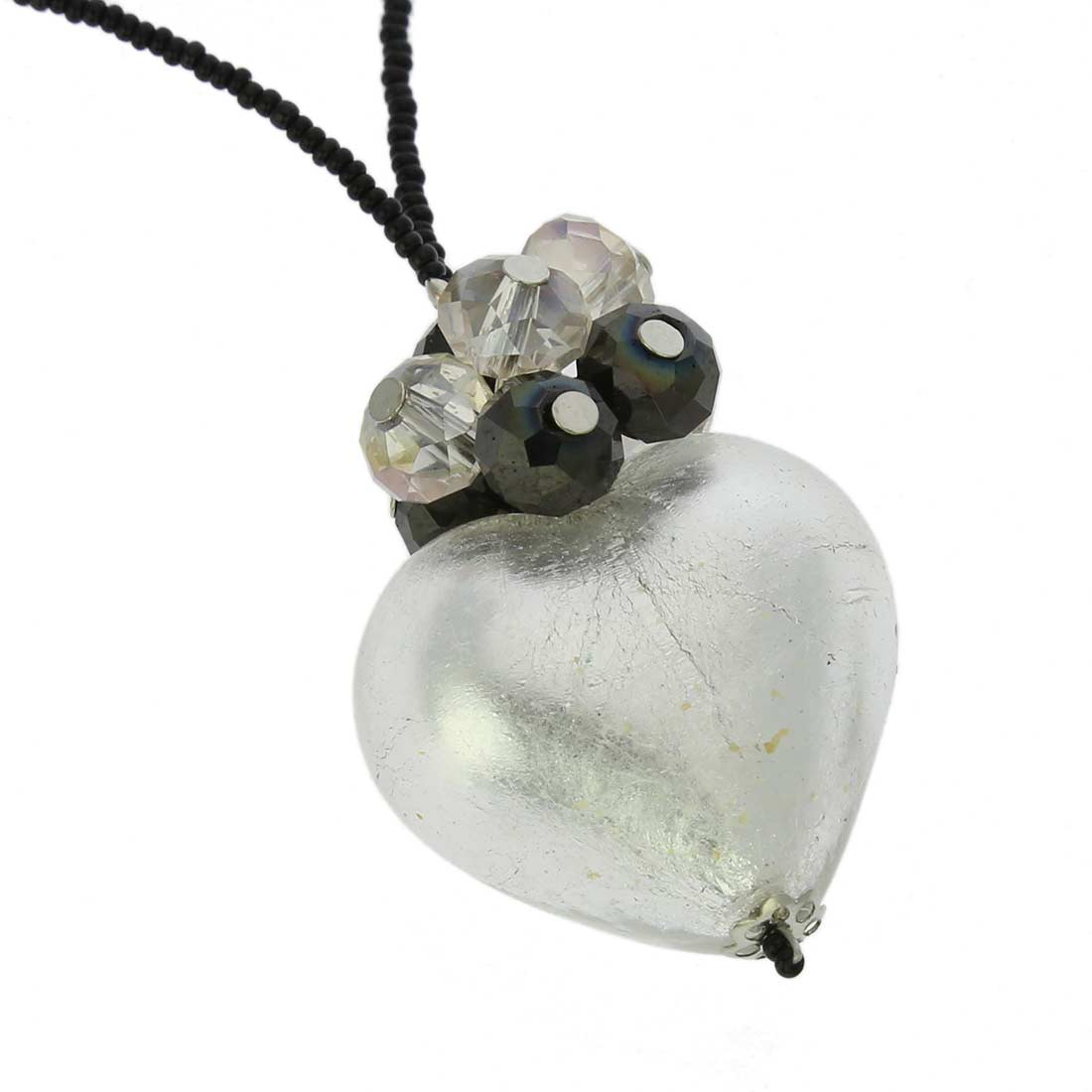 Venetian Love Heart Necklace - Silver