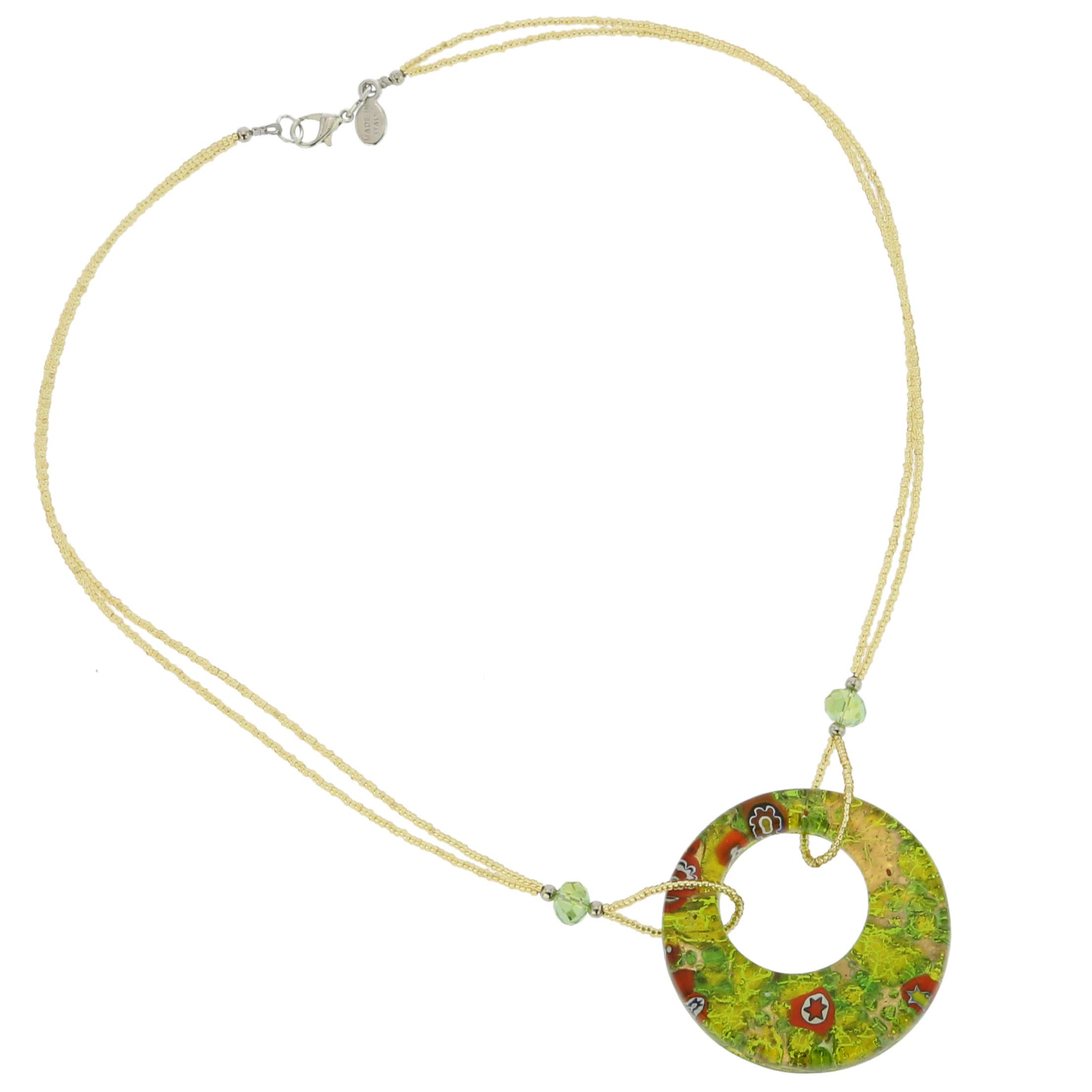 Murano Lava Necklace - Gold Confetti