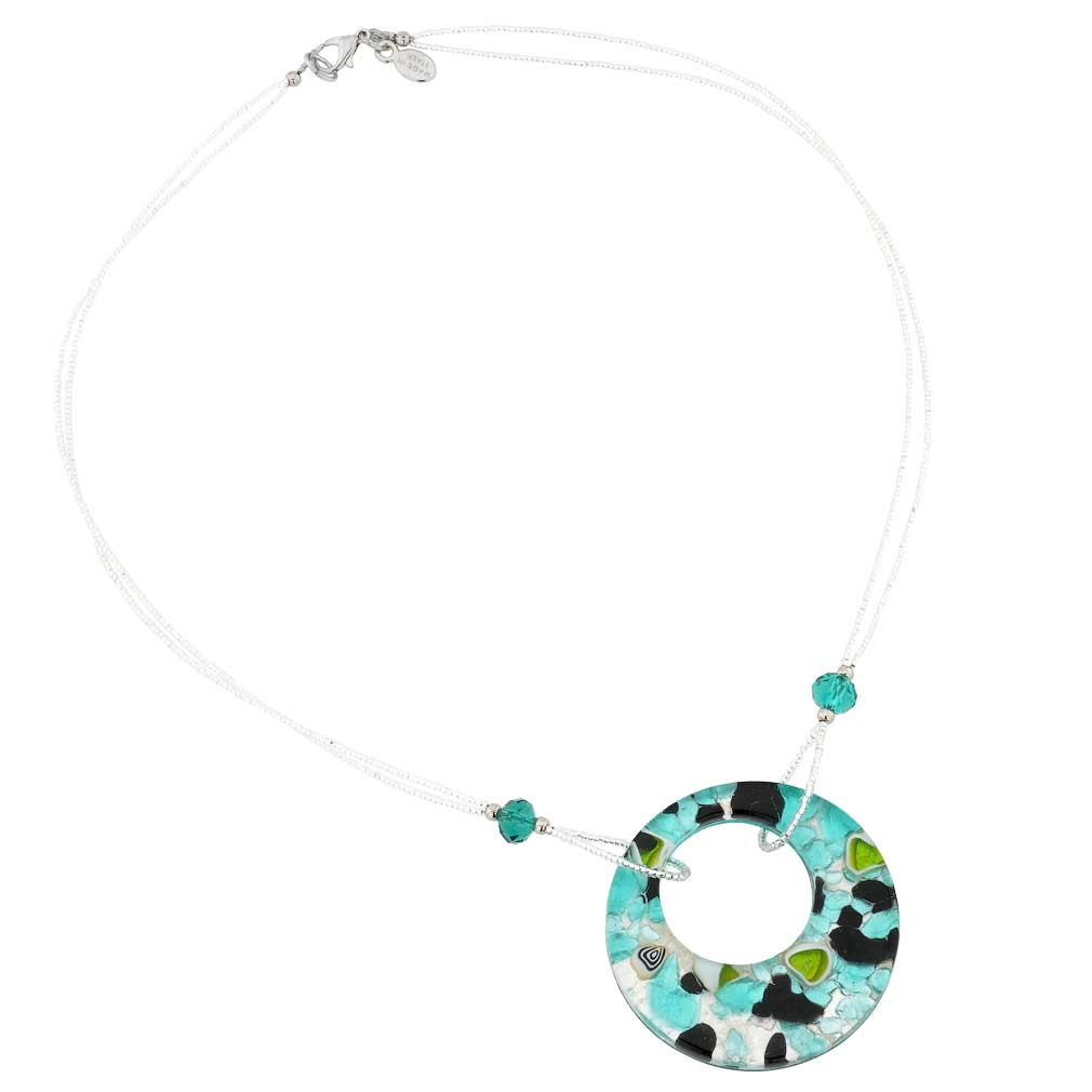 Murano Lava necklace - Black and White