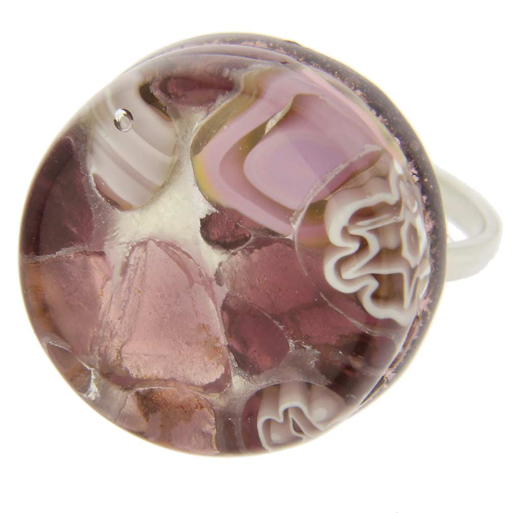 Venetian Reflections Ring - Round with Adjustable Band #5