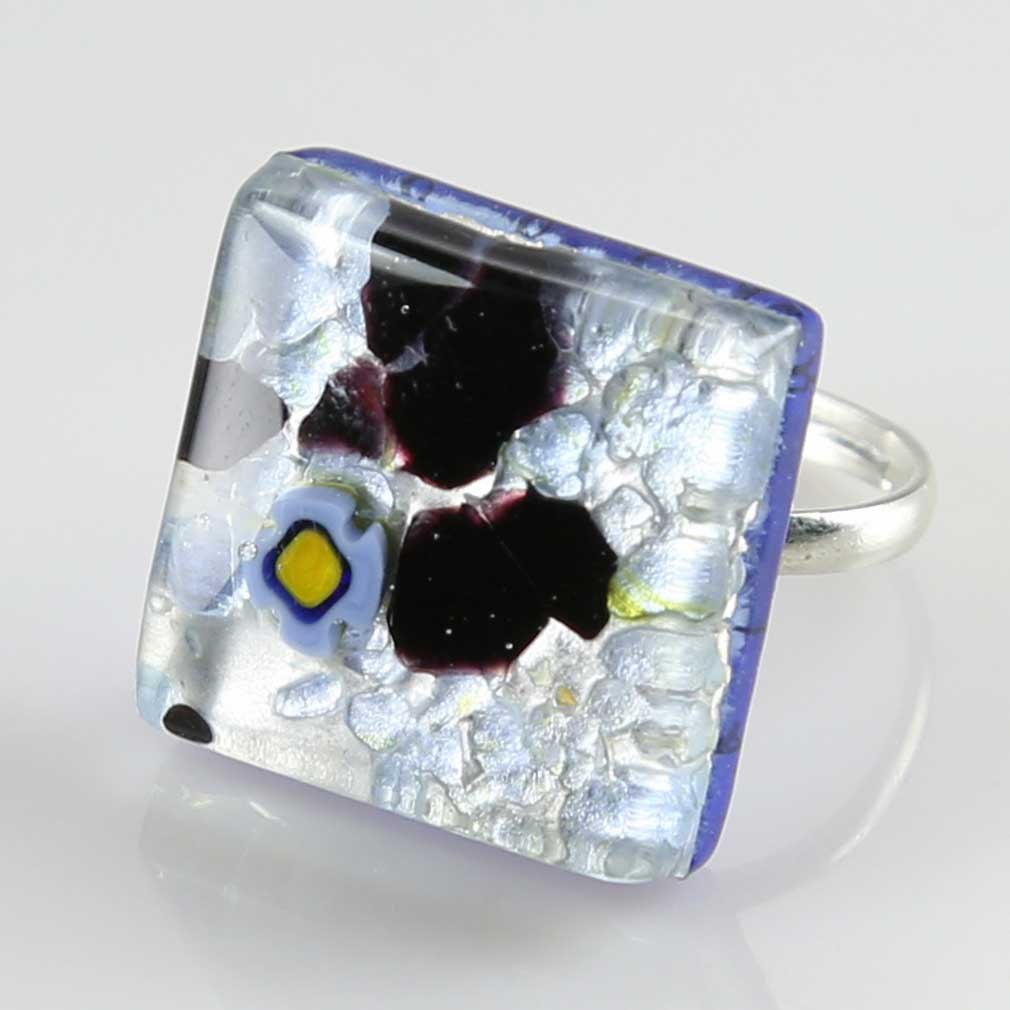 Venetian Reflections Ring - Square with adjustable band #14
