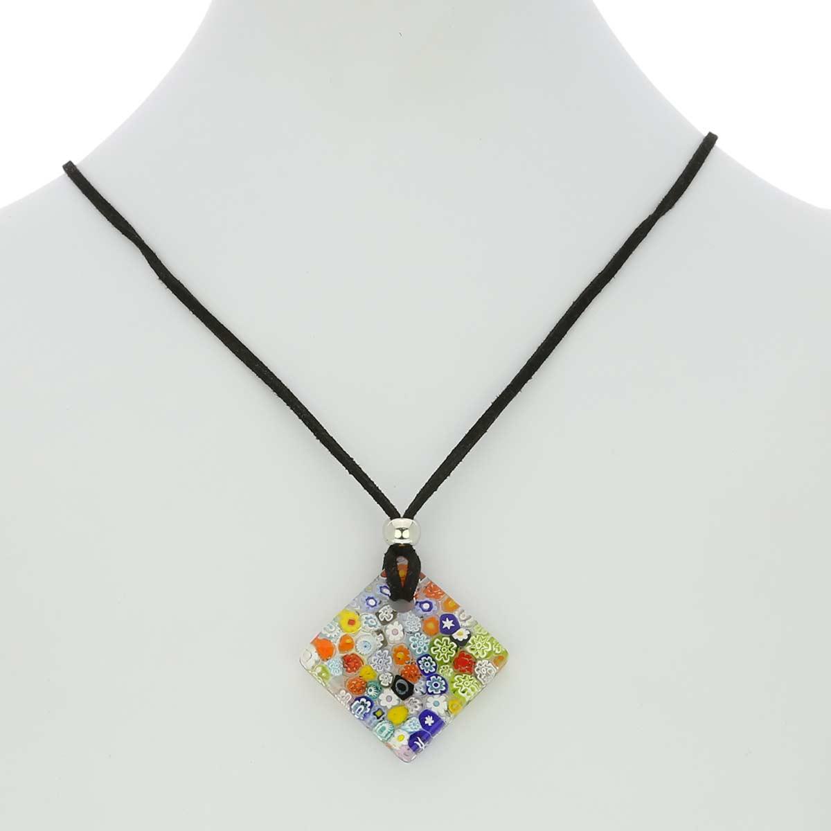 Murano Glass Millefiori Jewelry Set #1