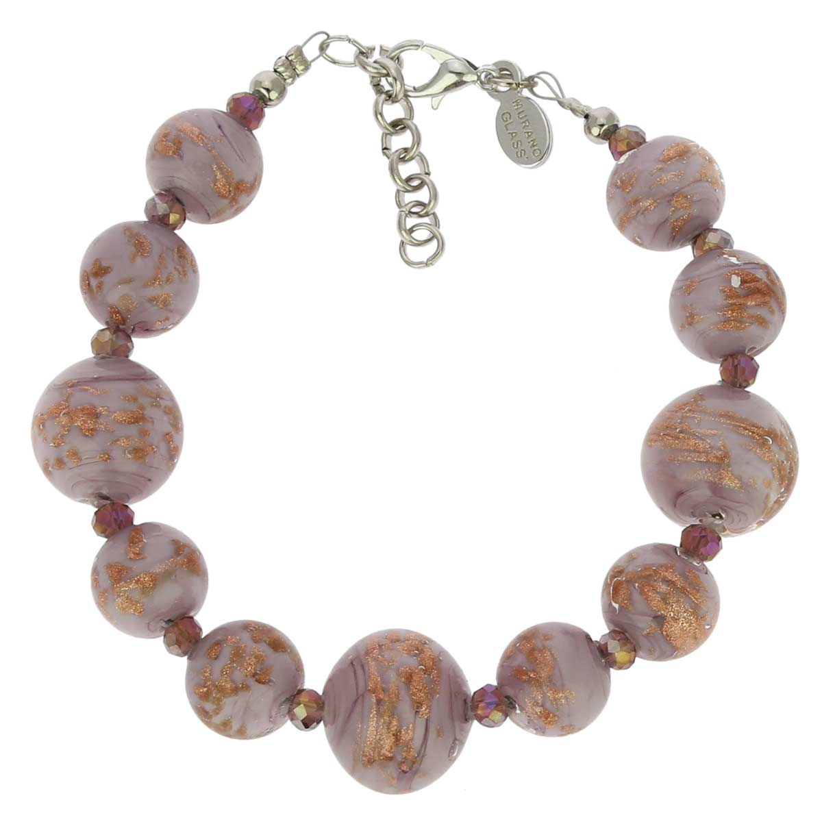 Starlight Balls Murano Bracelet - Amethyst