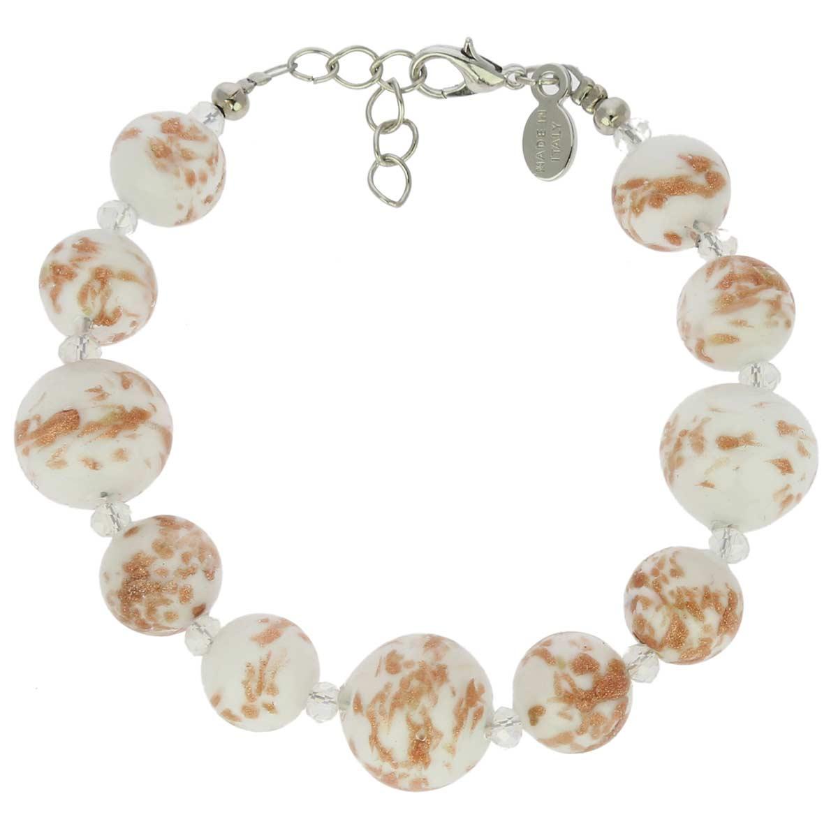Starlight Balls Murano Bracelet - White