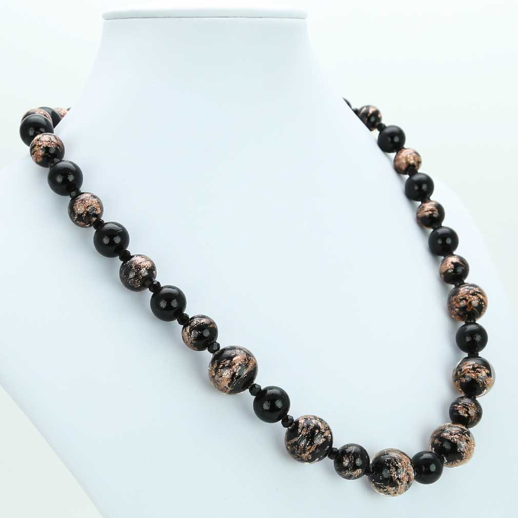 Starlight Murano Necklace - Black