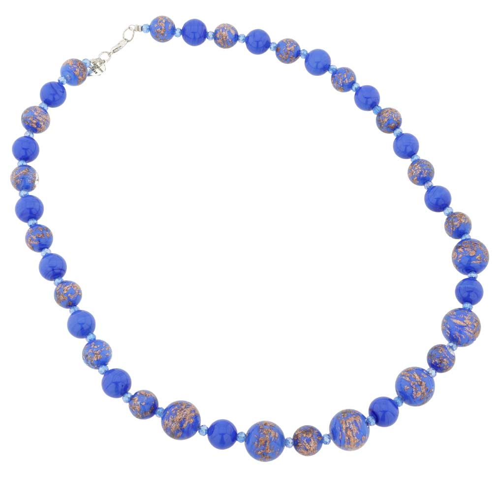 Starlight Murano Necklace - Cobalt Blue