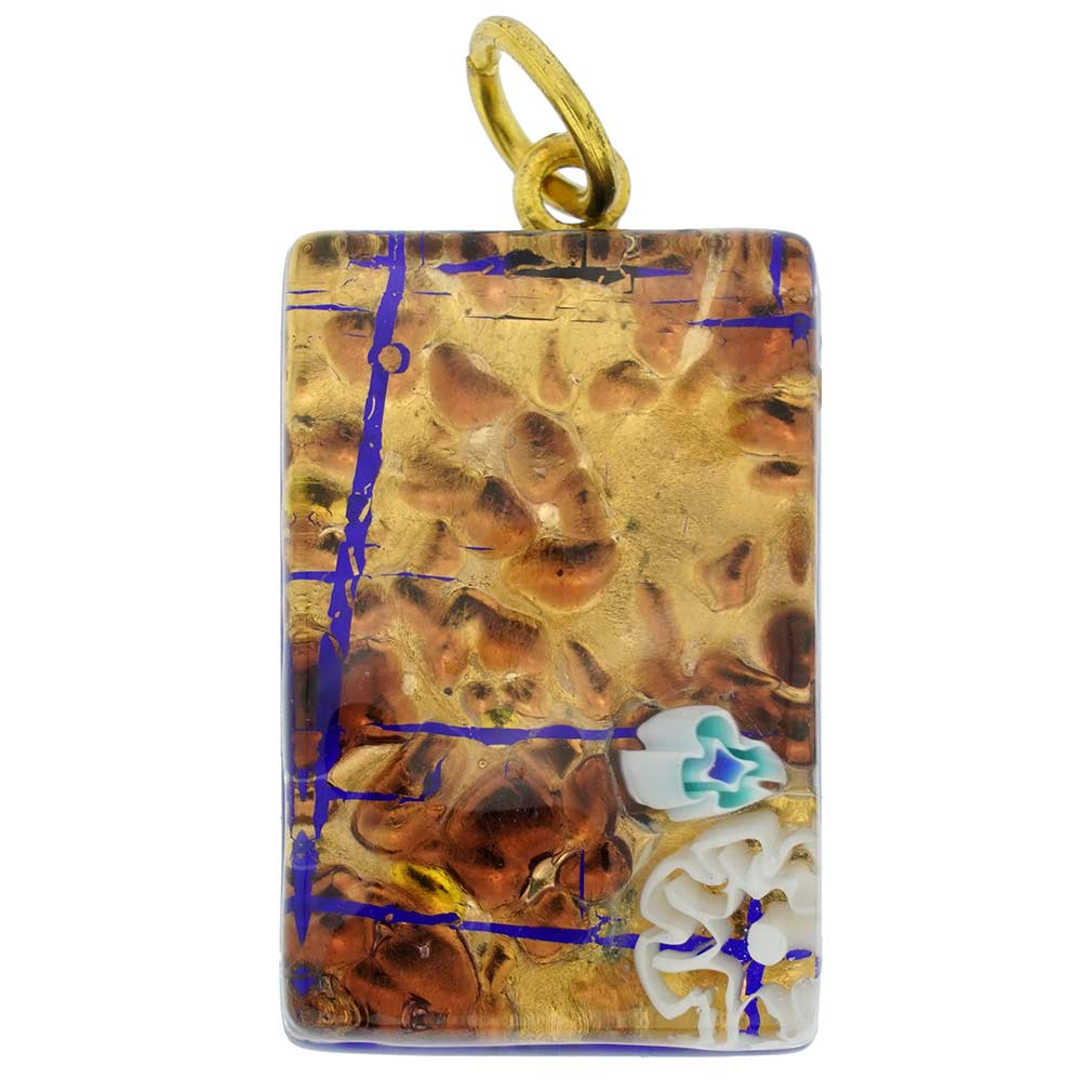 Venetian Reflections Stick pendant #12