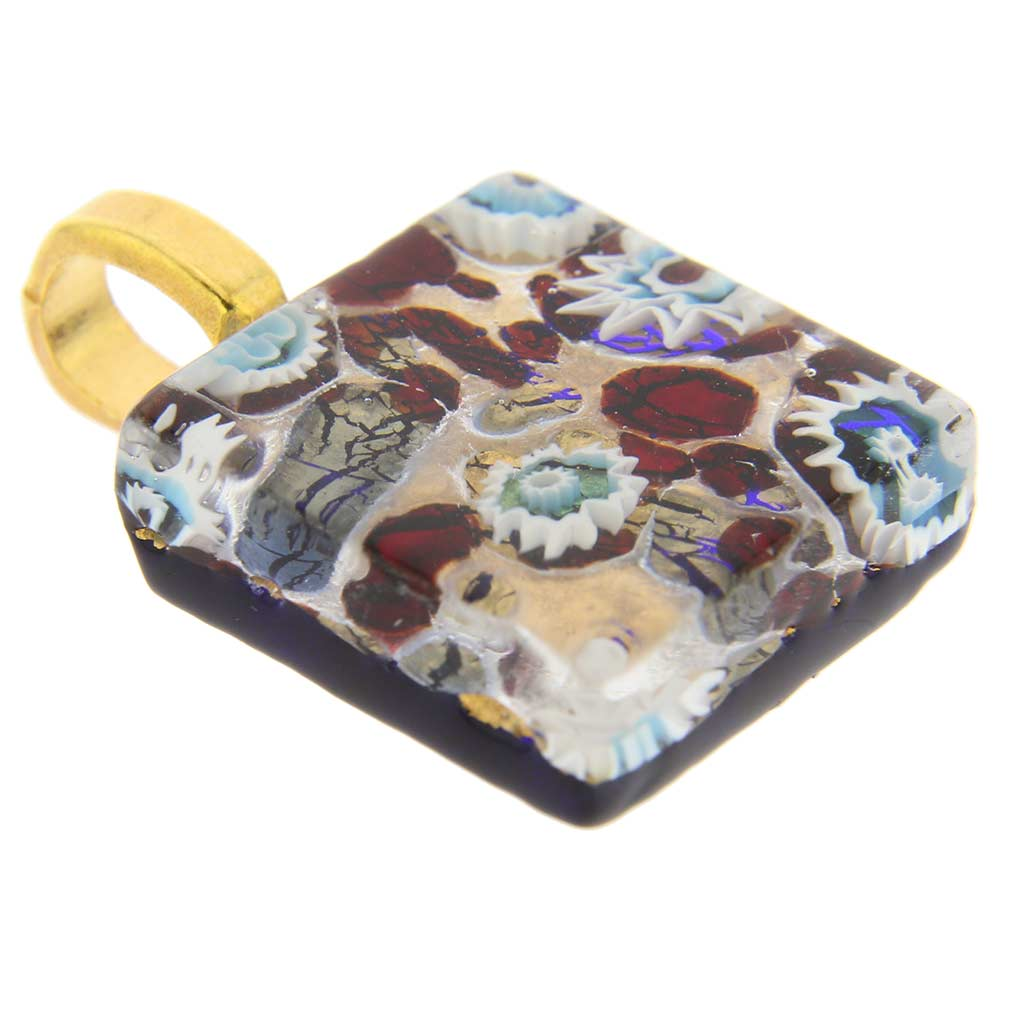 Venetian Reflections Square Pendant #1