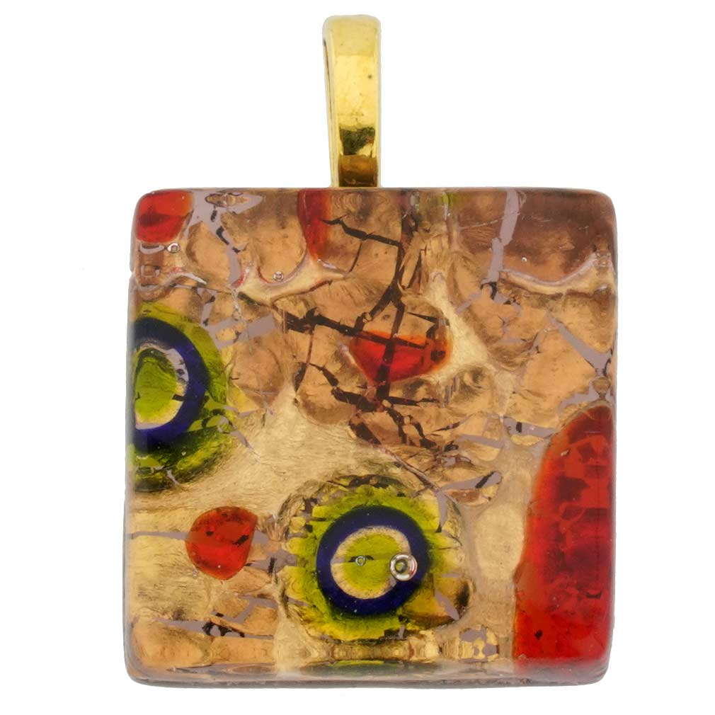Venetian Reflections Square Pendant #5