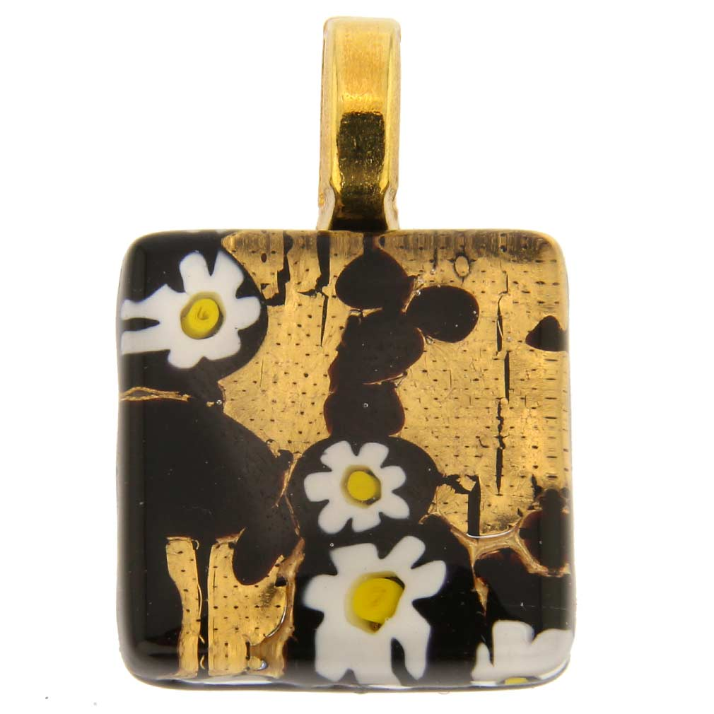 Venetian Reflections Square Pendant #6