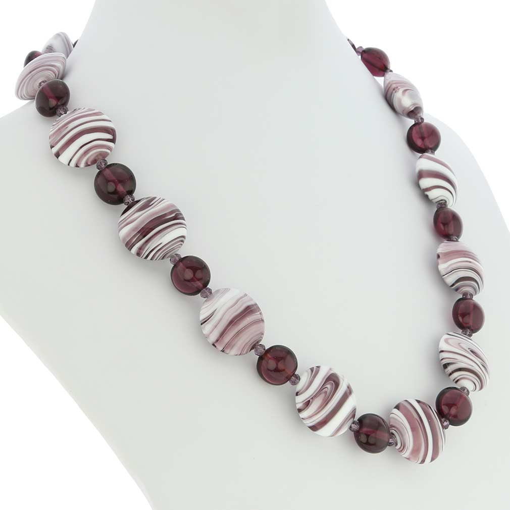 Murano Wonders Necklace - Amethyst