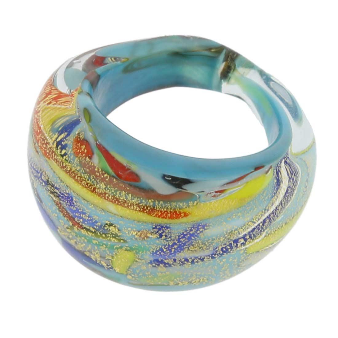 Avventurina Ocean Sunrise ring in domed design