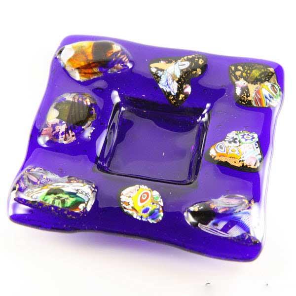 Murano Glass Blue Ocean decorative plate