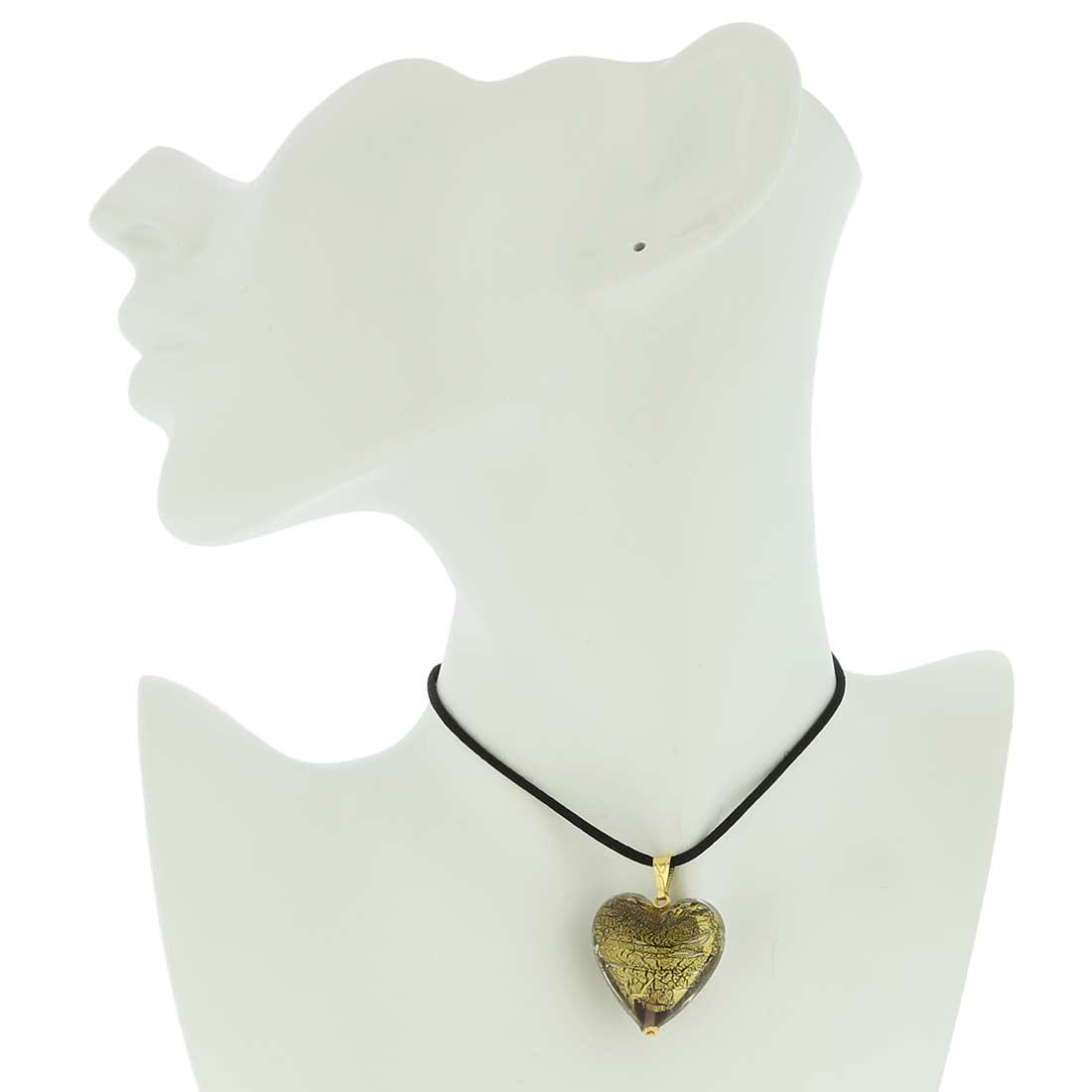 Heart Pendant Ca D\'Oro - Amethyst