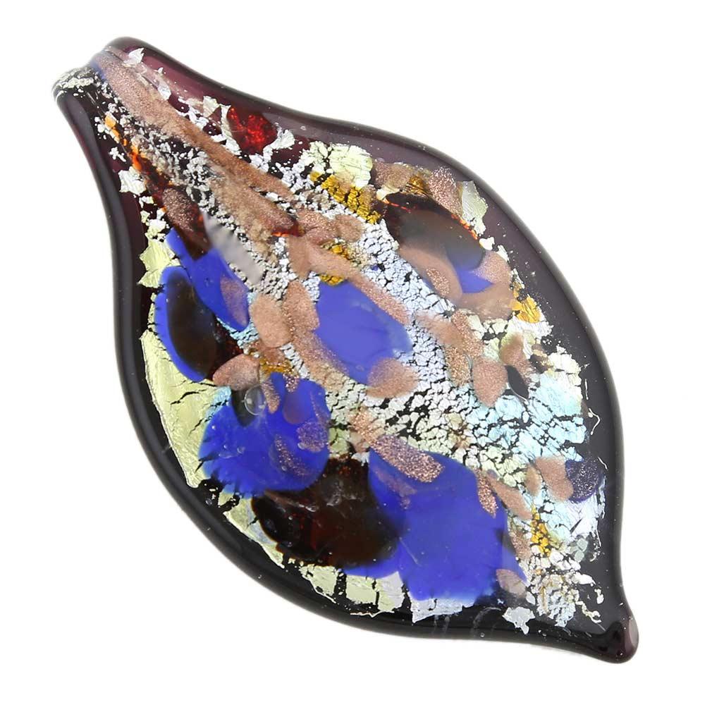 Monet leaf pendant - cobalt-blue