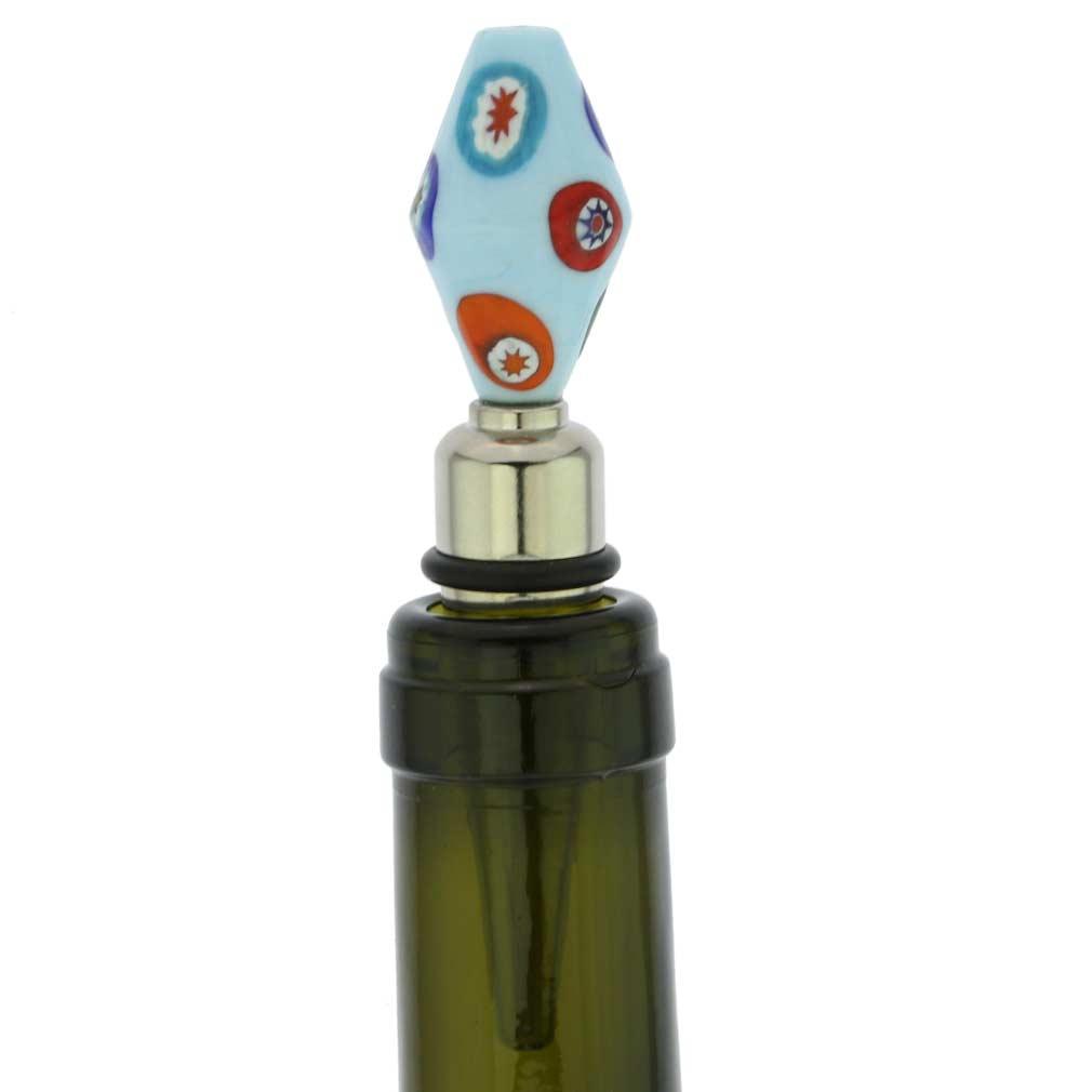 Venetian Mosaic bottle stopper - tender sky