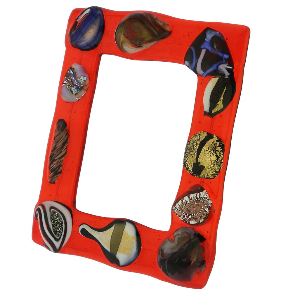 Fanciful Photo Frame 5x7 in lampworked glass #2
