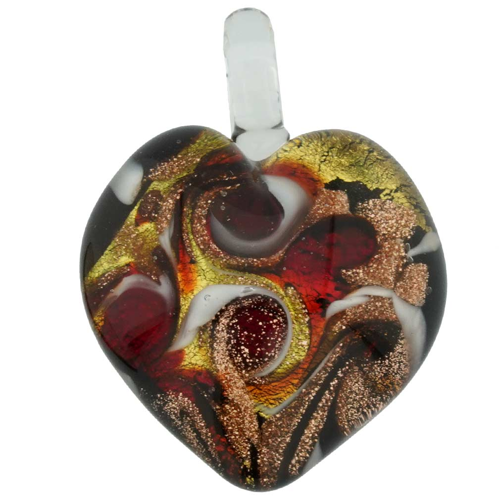Tender Heart pendant - Emerald Fire