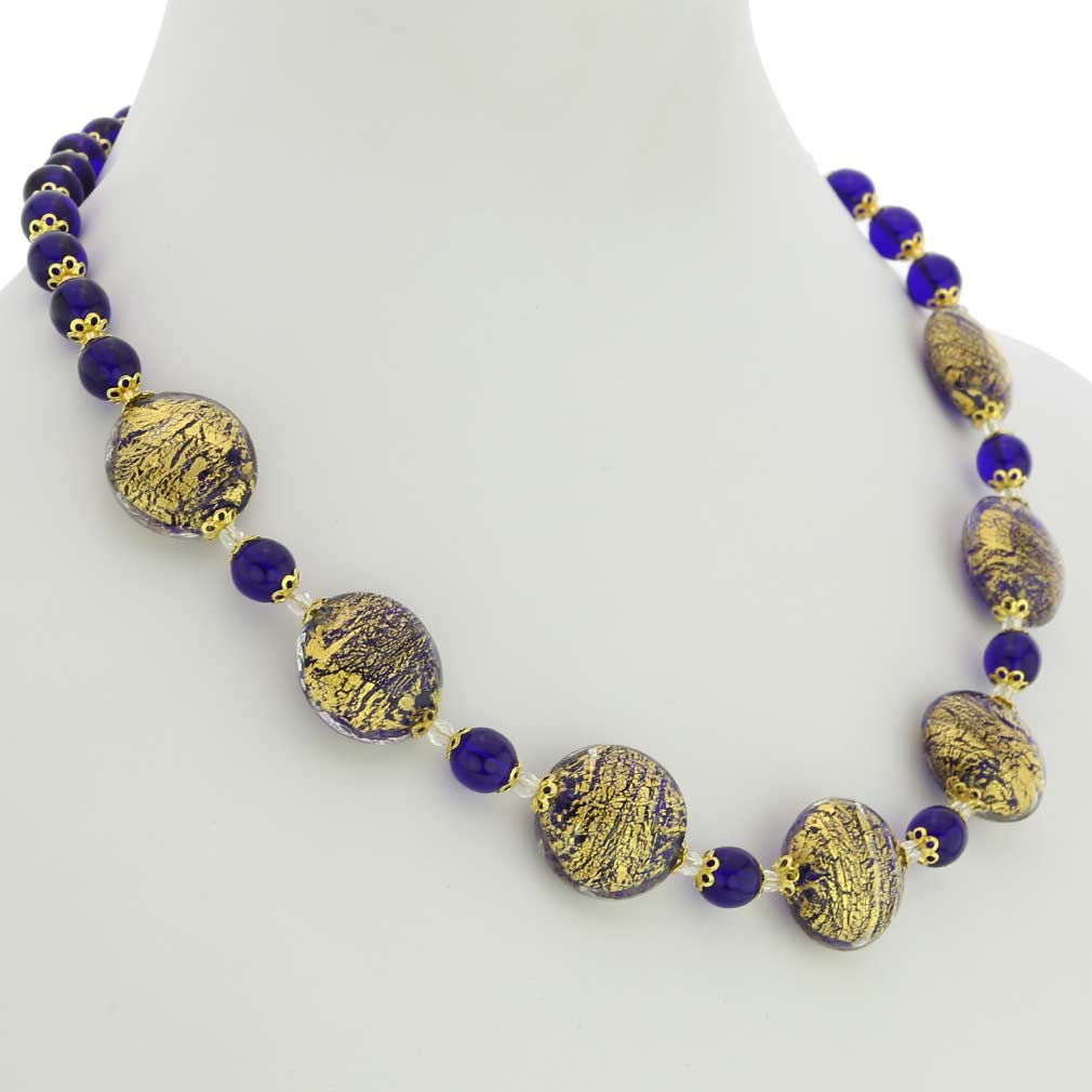 Necklace Ca D\'Oro -cobalt blue