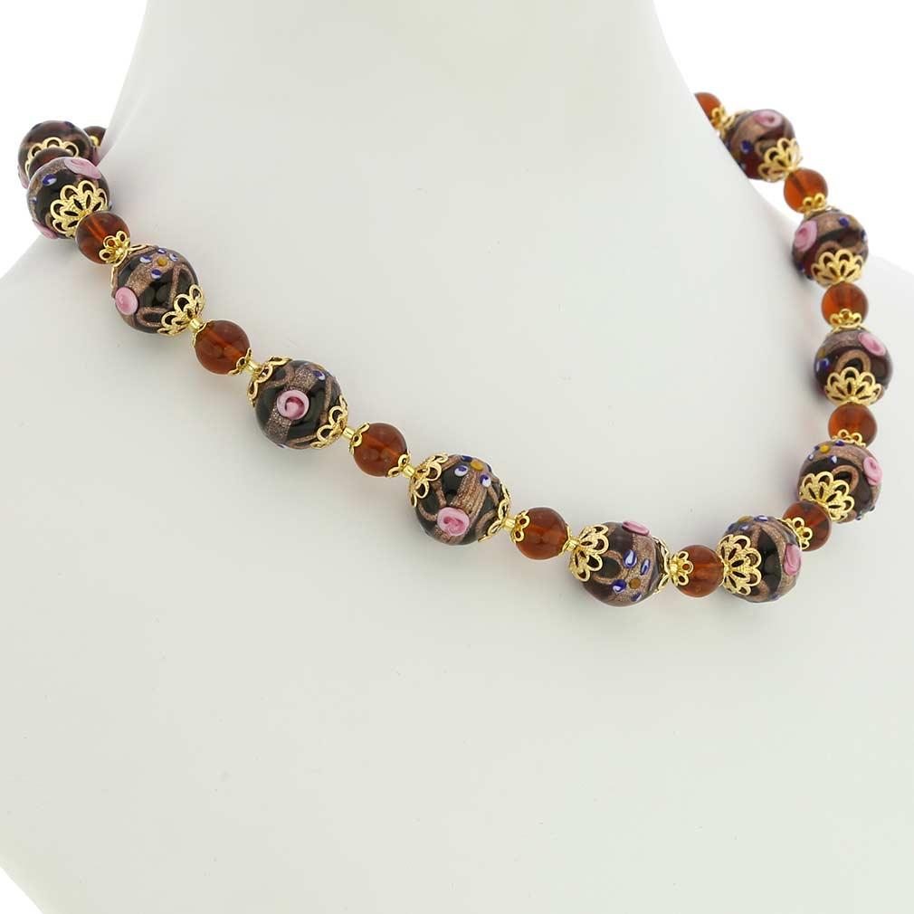 Necklace Venezia - amber