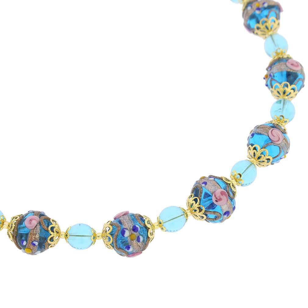 Necklace Venezia - aqua