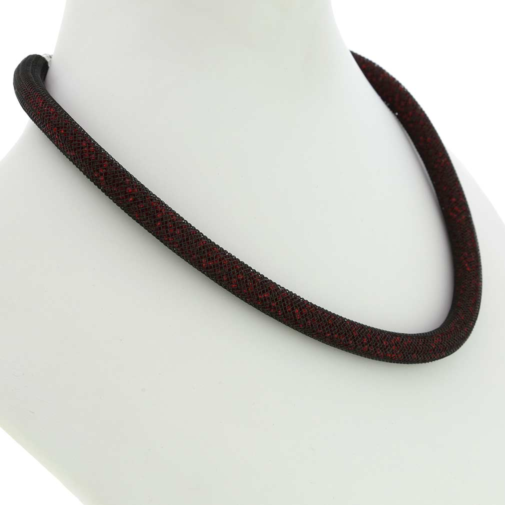 Murano Necklace Eleganza - Burgundy