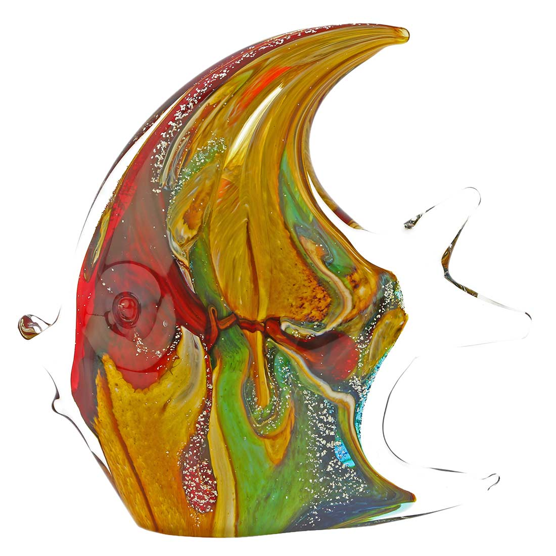 Murano Glass Fish - Rainbow Chalcedony