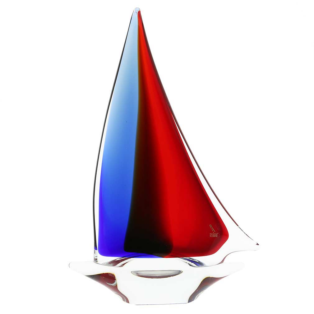 Murano Glass Sailboat | Glass Sailboat Sculpture