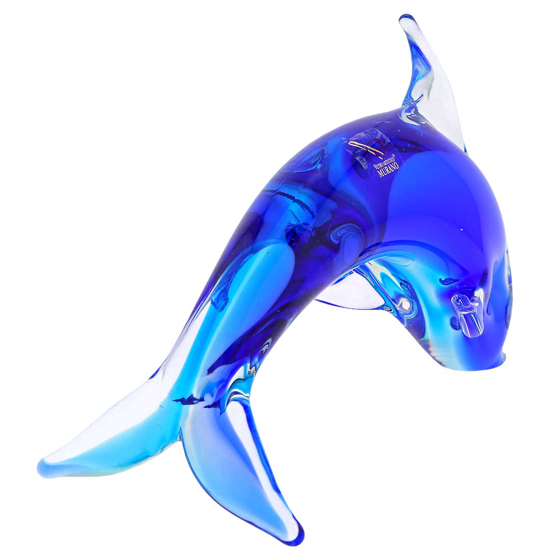 Murano Glass Dolphin - Aqua Blue