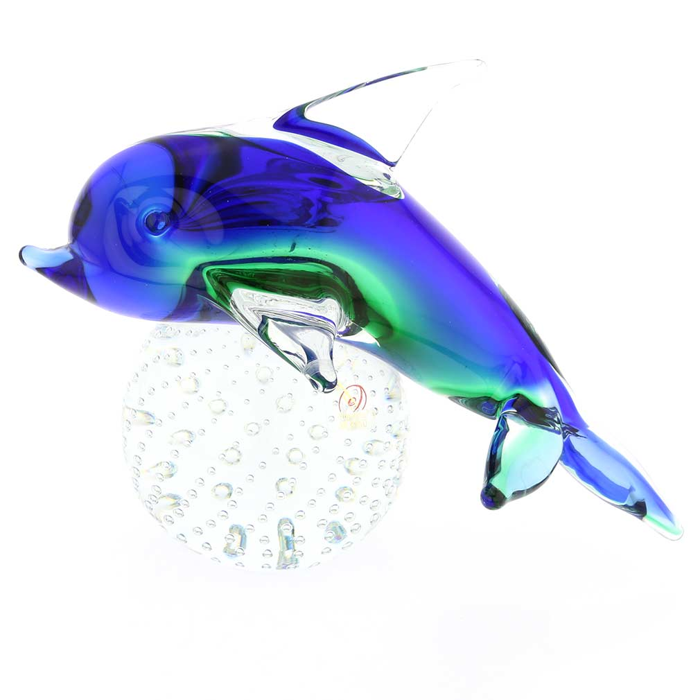 Murano Glass Dolphin - Blue and Green