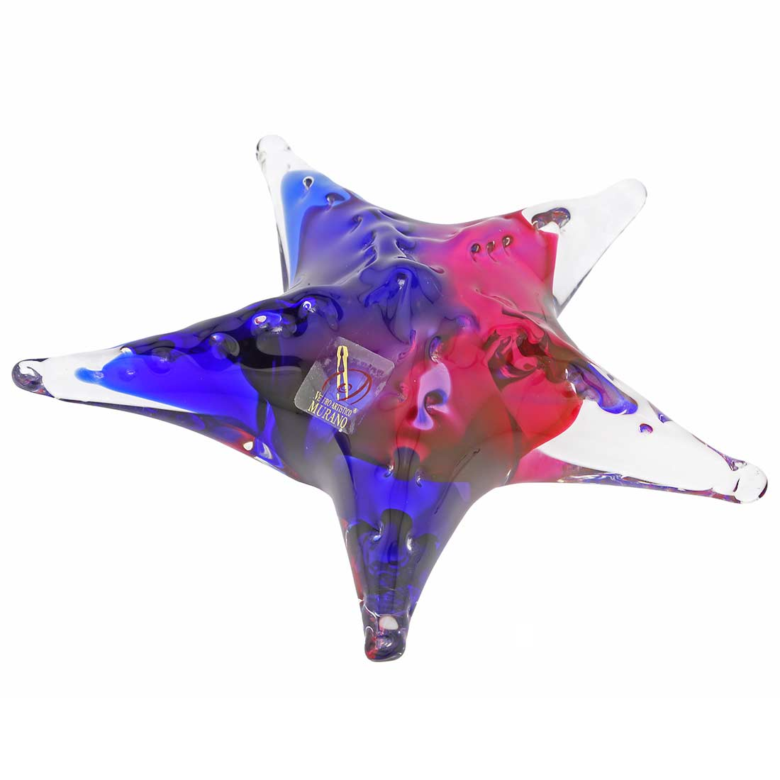 Murano Glass Starfish - Rose and Blue