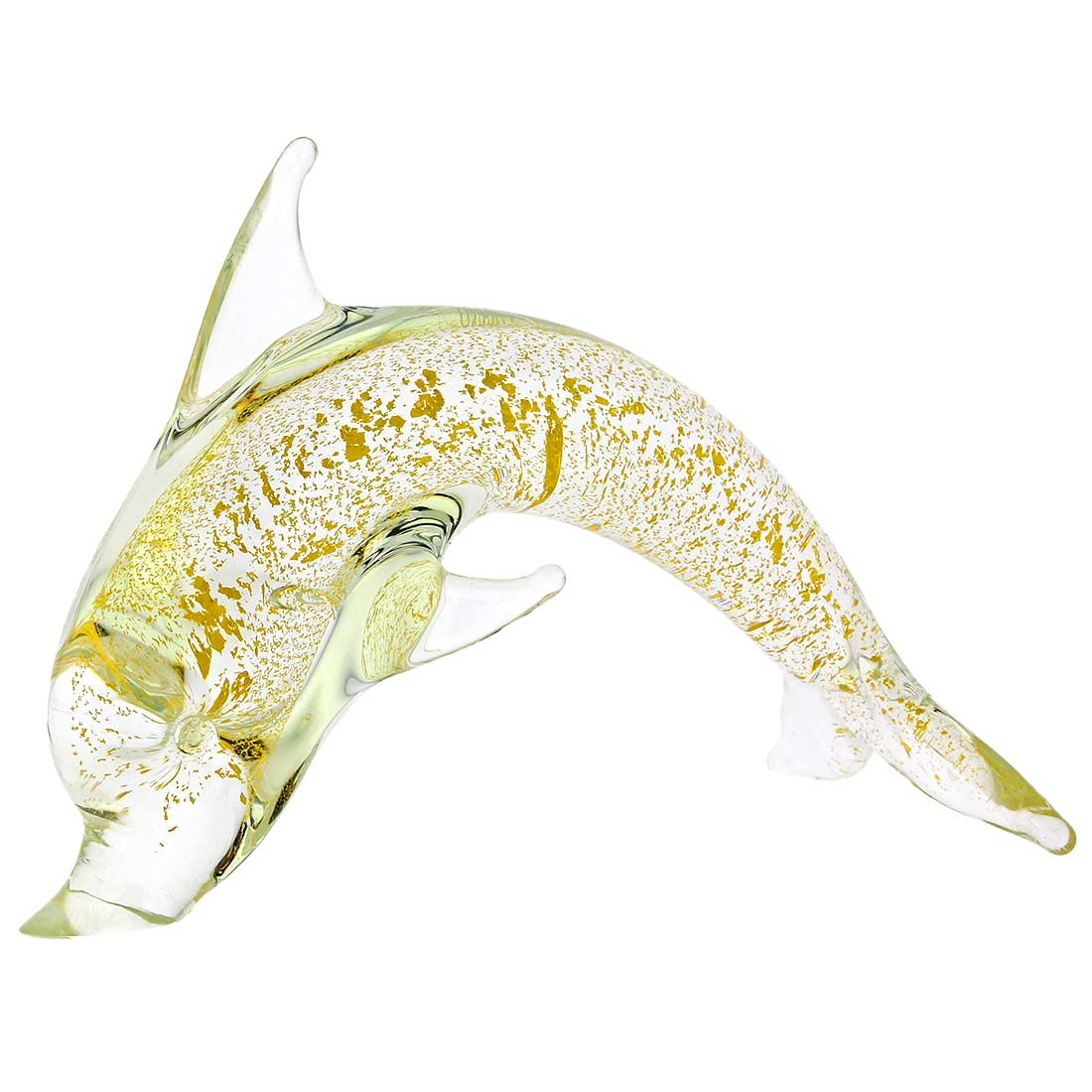 Murano Glass Dolphin - Sparkling Gold