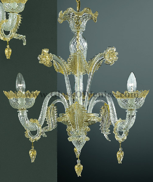 Casanova series Chandelier 3 lights with rings
