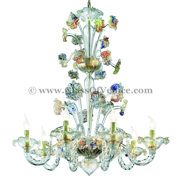 Tiepolo series Chandelier 8 lights with crests