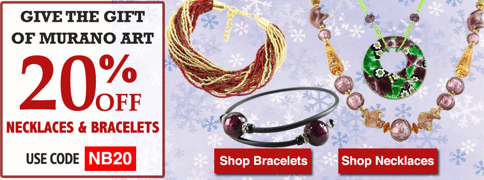 Murano Glass Necklaces and Bracelets Sale