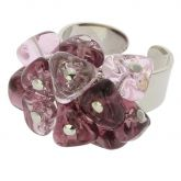 Preziosa Murano Glass Ring - Purple