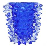 Murano Glass Vase - Blue With Spikes